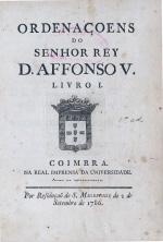 Ordenaçoens do Senhor Rey D. Affonso V