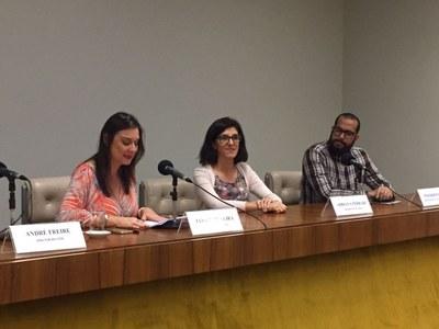 Janice Silveira, Adriana Ferrari e Wander Pavão