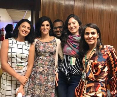 Judite Martins, Adriana Ferrari, Raphael Cavalcante, Fabyola Madeira e Mariangela Lopes