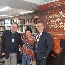 Marco Antunes, Alexandra e André, diretor do Cedi