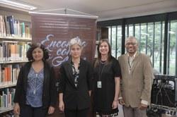 Maria Amélia Elói, Teresa Cristina de Novaes Marques, Janice silveira e Jair Francelino.