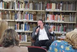Palestra de Maurício Melo Júnior na Biblioteca da Câmara dos Deputados.