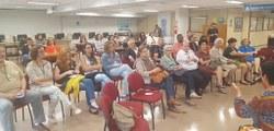 Participantes do encontro com Alexandra Rodrigues