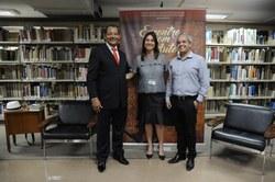 Prof. Filemon Felix, Janice Silveira e Wesley Vasconcelos