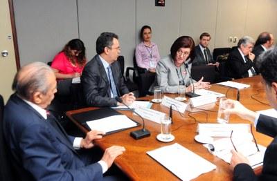 Magda Chambriard discursa na 9ª reunião do CEDES