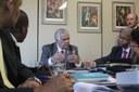 Presidente do Conselho de Ética recebe parlamentares de Cabo Verde para apresentar estrutura do colegiado