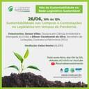 Rede Legislativo Sustentável promove evento sobre contratações sustentáveis