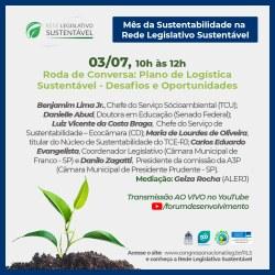 Rede Legislativo Sustentável promove evento sobre Plano de Logística Sustentável