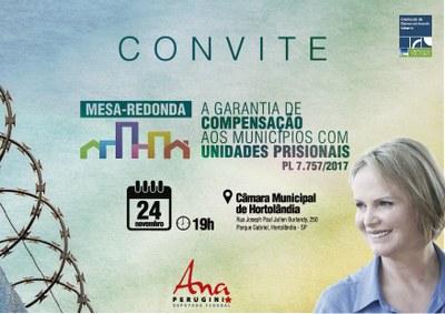 Ana Perugini promove debate sobre compensação a municípios com presídios