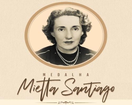 Inscrições Medalha Mietta Santiago - Edição 2018 / 2019