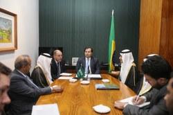 Maia recebe delegação parlamentar da Arábia Saudita