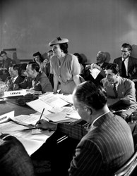 Bertha Lutz durante os trabalhos da Conferência de São Francisco - 1945