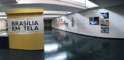 Registro fotográfico da exposição Brasília em Tela, com trabalhos dos artistas Alexsandro Almeida e Janduy Malta.