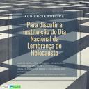 Audiência Pública - Dia Nacional da Lembrança do Holocausto (dia 27/09/2017)