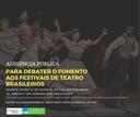 Audiência Pública - Fomento aos Festivais de Teatro Brasileiros (31/08/2017)