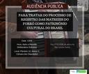 Audiência Pública - Matrizes do Forró como Patrimônio Cultural do Brasil (dia 13/06/2018)