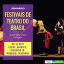 Seminário - Festivais de Teatro - 22/11/17