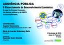 Comissão promoverá debate sobre o financiamento do desenvolvimento econômico