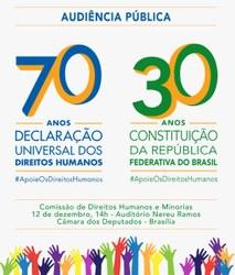 Leonardo Boff, ex-ministros e sociedade civil fazem evento sobre os 70 anos da Declaração Universal dos Direitos Humanos e os 30 anos da Constituição Federal