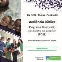Audiência Pública debate o Programa Doutorado Sanduíche no Exterior