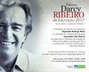 Entrega do Prêmio Darcy Ribeiro 2017 será no dia 31 de outubro em cerimônia na Câmara dos Deputados