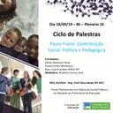 Palestra sobre o Tema: Paulo Freire: contribuição social, política e pedagógica