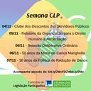 Agenda da CLP para a próxima semana