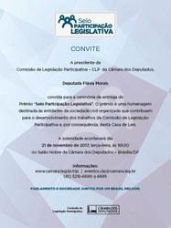 """Prêmio """"Selo Participação Legislativa"""""""