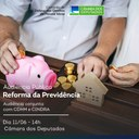 Cidoso promove audiência conjunta para debater a reforma da previdência