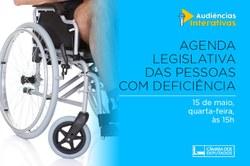 Audiência pública debaterá a Agenda Legislativa das Pessoas com Deficiência