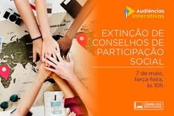 Audiência pública discutirá a extinção dos Conselhos de participação popular