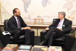 Embaixador do Chile faz visita de cortesia ao Presidente da CREDN
