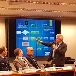 Ministro Marcos Pontes destaca a importância da aprovação do acordo de salvaguarda tecnológica no Congresso Nacional.