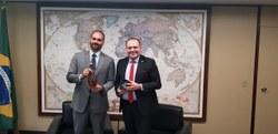 Presidente da  CREDN recebe visita do Embaixador da República da Macedônia do Norte