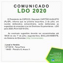 Comunicado LDO 2020