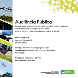 Comissão realizará nesta terça-feira, 16 de abril, Reunião Deliberativa e Audiência Pública