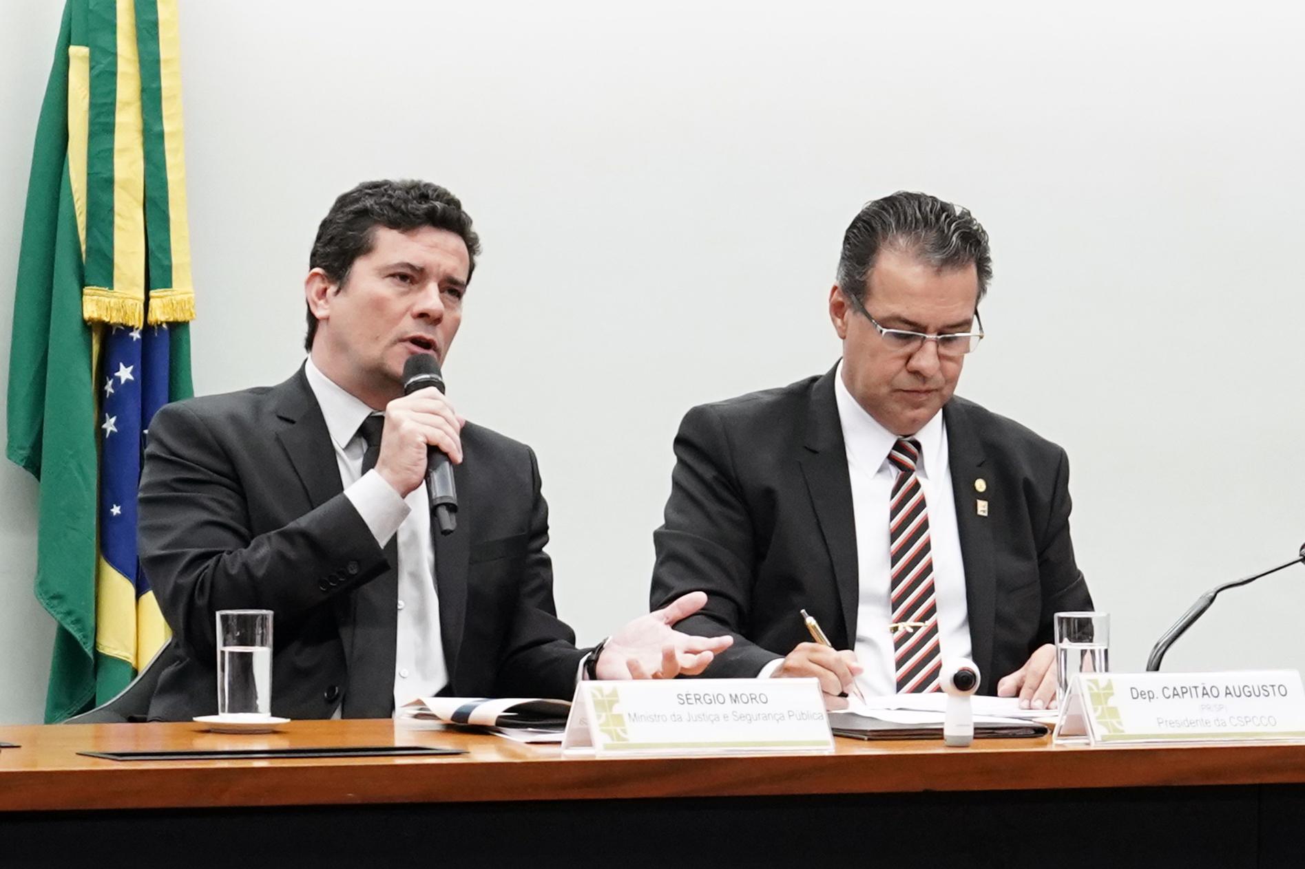 Na Comissão de Segurança Pública e Combate ao Crime Organizado, Moro defende projeto anticrime