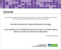 SEMINÁRIO NACIONAL DO MARCO REGULATÓRIO DO TRANPORTE RODOVIÁRIO DE CARGAS