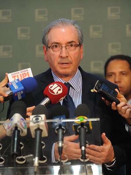 Presidente da Câmara dos Deputados Eduardo Cunha concede entrevista coletiva à imprensa