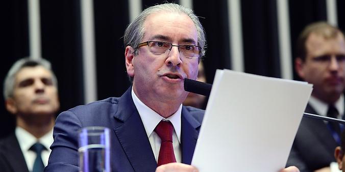 Sessão solene do Congresso Nacional para abertura dos trabalhos legislativos do segundo ano da 55ª Legislatura. Presidente da Câmara, dep. Eduardo Cunha (PMDB-RJ)