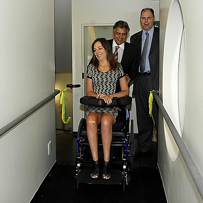 Inauguração da rampa de acessibilidade entre o Edifício Principal e a SGM, Mara Gabrilli, Beto Mansur e Alex Canziani