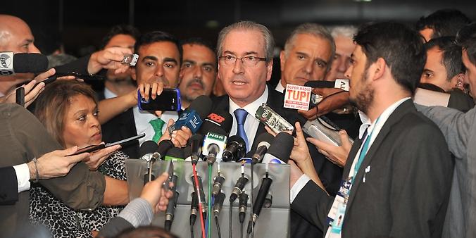 Entrevista coletiva com o deputado Eduardo Cunha