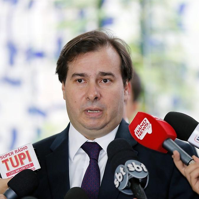 Presidente da Câmara dos Deputados, Rodrigo Maia (DEM/RJ), concede entrevista