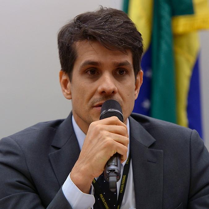 Audiência pública para discutir ações de combate e prevenção à violência sexual virtual contra as mulheres. Delegado da Polícia Federal, Pablo Barcellos Berman
