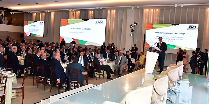 Presidente da Câmara, dep. Rodrigo Maia (DEM-RJ) participa de Solenidade de lançamento da Agenda Legislativa da Indústria 2017
