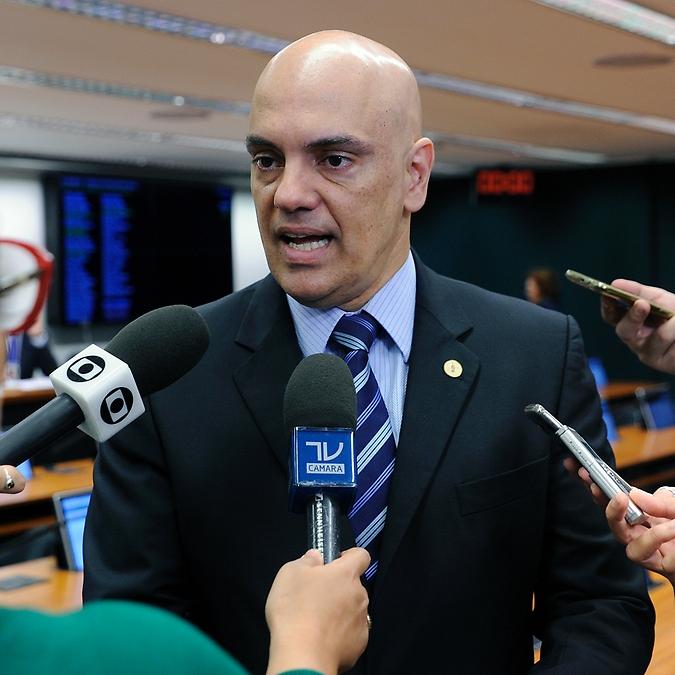 Ministro do Supremo Tribunal Federal, Alexandre de Moraes; e o ministro da Justiça, Osmar Serraglio concede entrevista