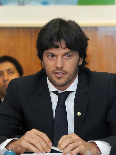 Presidente em exercício dep. Fábio Faria (PSD-RN), durante reunião de líderes partidários reúnem-se para definição da pauta da semana