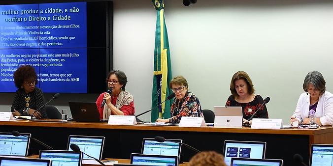 """Audiência Pública """"Direito das mulheres à cidade""""."""