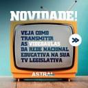 TVs legislativas exibirão aulas na quarentena