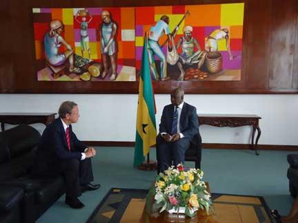 Embaixador da Bélgica recebido pelo Presidente da ANSTP